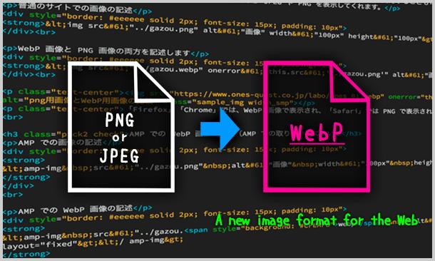 次世代フォーマットWebPを使ってみよう!